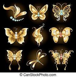 黃金, 蝴蝶, 集合