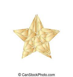 黃金, icon., 矢量, 星, illustration.