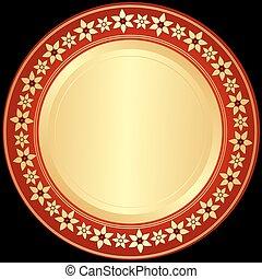 黃金, red-black, 框架