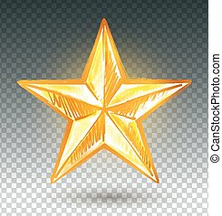 黃金, star.