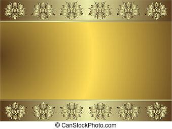 黃金, (vector), 背景, 文雅, 銀色