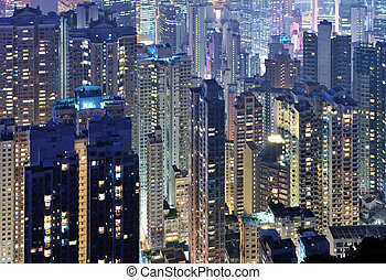 黑暗, 地平線, midtown, 城市