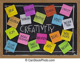 黑板, 詞, 雲, 創造性