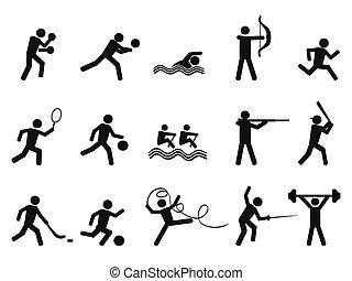 黑色半面畫像, 圖象, 人們, 運動