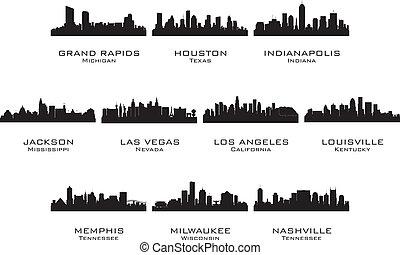 黑色半面畫像, 城市, 2, 美國