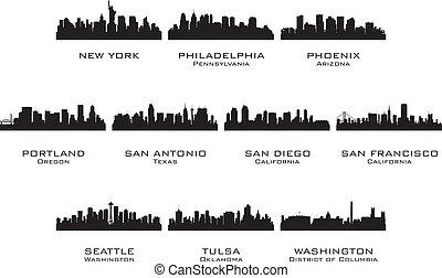 黑色半面畫像, 城市, 3, 美國