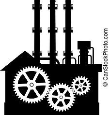 黑色半面畫像, 工廠, icon.