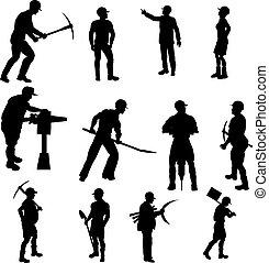 黑色半面畫像, 建設工人