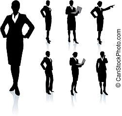 黑色半面畫像, 從事工商業的女性, 彙整