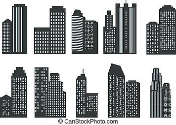 黑色半面畫像, 摩天樓