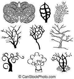 黑色半面畫像, 樹, 彙整