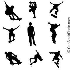 黑色半面畫像, 滑冰者, 彙整