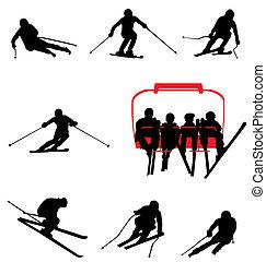黑色半面畫像, 滑雪, 彙整