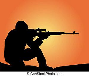 黑色半面畫像, 狙擊手