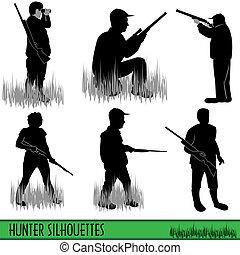 黑色半面畫像, 獵人