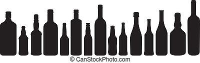 黑色半面畫像, 瓶子