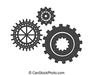 黑色半面畫像, 裝置設計, 齒輪