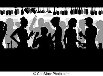 黑色半面畫像, 酒吧發生地點