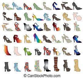 黑色半面畫像, 鞋子, 3