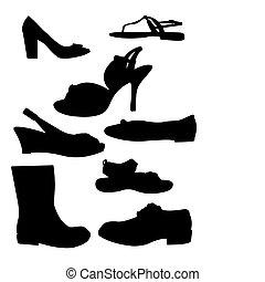 黑色半面畫像, 鞋子