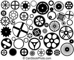 黑色半面畫像, 齒輪 輪子
