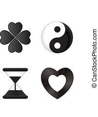 黑色, 圖象, 白色