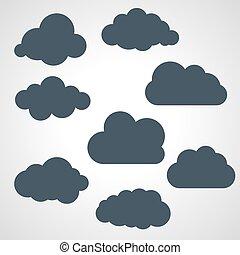 黑色, 矢量, 云霧, 插圖, 彙整