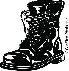 黑色, 靴子, 軍隊