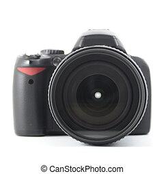 黑色, dslr, 照像機