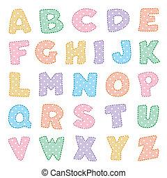 點, 波爾卡舞, 字母表, 彩色蜡筆