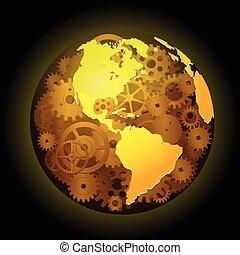 齒輪, 地球, 背景