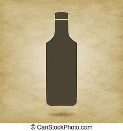 龍舌蘭酒, 矢量, 黑色半面畫像, 瓶子
