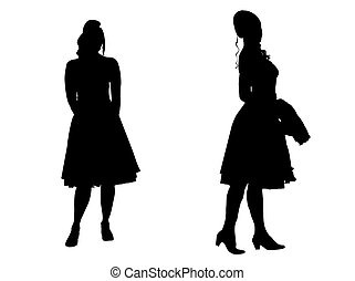 -, 黑色半面畫像, 年輕婦女