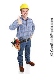 -, thumbsup, 建設工人, 真正