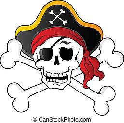 1, 主題, 海盜, 頭骨