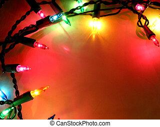 1, 光, 框架, 聖誕節