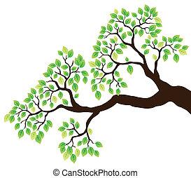 1, 綠葉, 樹枝