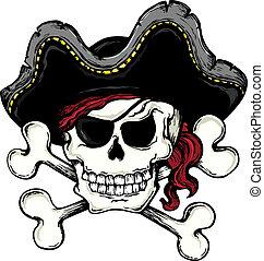 1, 葡萄酒, 主題, 海盜, 頭骨
