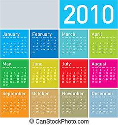 2010., 日曆, 鮮艷