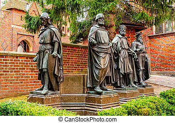 21, teutonic, 城堡, 掌握, 主要, 雕像, poland., 2020, september, 波蘭, malbork, 預訂, 中世紀