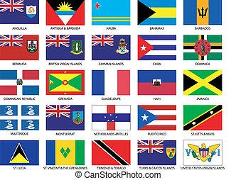 25, 加勒比海, 旗