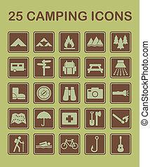 25, 露營, 圖象