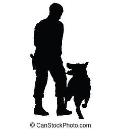 4, 狗, 警察