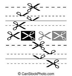 8, design., eps, 樣板, 剪刀