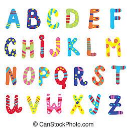 abc, 孩子, 有趣, 設計