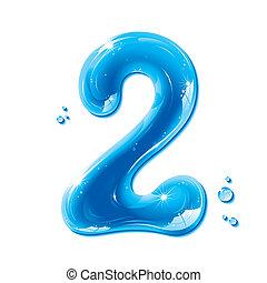 abc, 液体, 系列, -, 數字, 水, 2