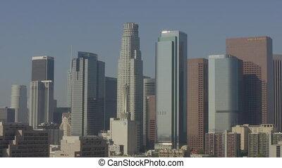 aerial:, los, 市區, 日光, 美麗, angeles, 加利福尼亞