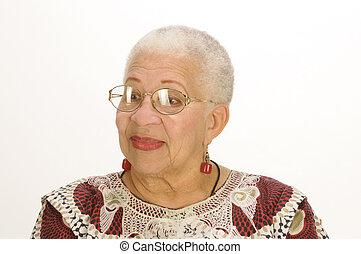 american婦女, 年長, african