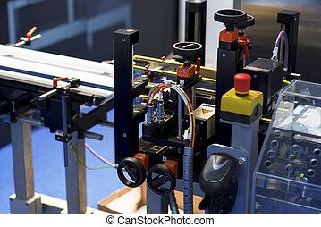 applicator, 數字, printer., machine., 屠夫, barcode, 標簽, 打印机