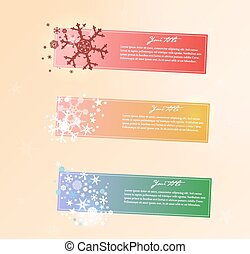 banners., 矢量, 聖誕節, 彙整